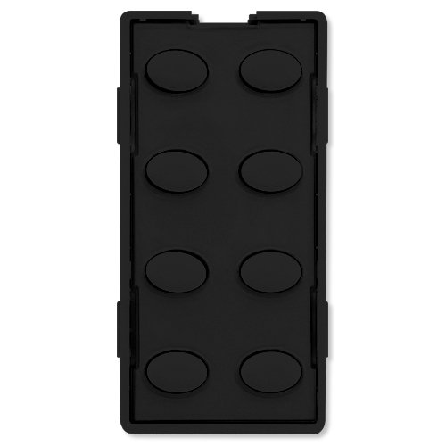 8O-BK Custom Series Oval 8-Button Faceplate, Black ()
