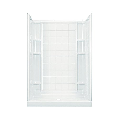 Sterling Plumbing 72130100-0 Plumbing Ensemble 60-Inch by 35-1/4-Inch by 77-Inch Shower Stall, White by Sterling Plumbing