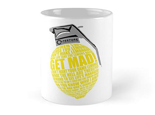 Portal 2 Cave Johnson Combustible Lemon Quote 11oz Mug - Great gift for family and friends.