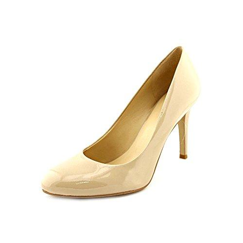 Nine West Caress Womens Size 8 Tan Patent Leather Pumps Heels Shoes