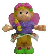 Little People Fairy Princess Sarah Lynn with Butterfly Wings and Wand - Bendables Replacement Figure - Classic Fisher Price Collectible Figures - Zoo Circus Ark Pet - Bendable Zoo