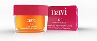 NAVI Crema Hidratante Noche/Mascarilla facial Antiarrugas Vitamina E & Ácido Hialurónico, 50 ml