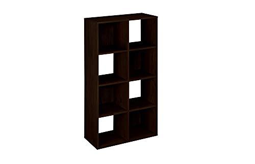 ClosetMaid 8998 Cubeicals Organizer, 8-Cube, Espresso (Black Cubby Storage)
