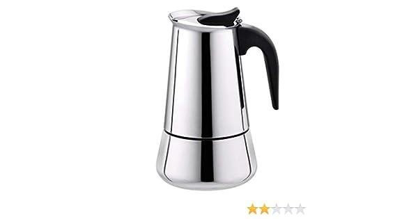 STRIR Cafetera Espresso en Acero Inoxidable (2 Tazas): Amazon.es ...