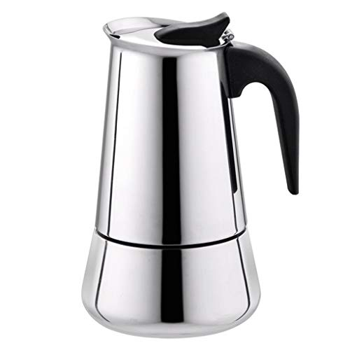 TiTCool Coffee Pot, Stainless Steel Wide Bottom Home Office Coffee Maker Moka Espresso Maker Percolator Stove (300ml)