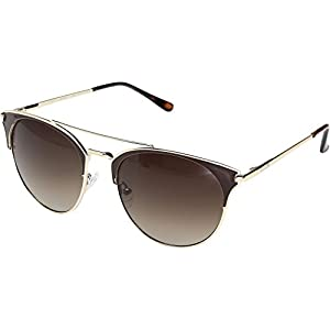 GUESS Unisex GF0312 Gold/Brown Epoxy/Gradient Brown Lens Sunglasses