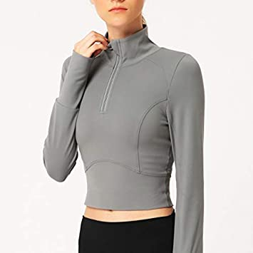 YJTZGG-H Ropa Deportiva Camisas De Yoga para Mujer Otoño ...