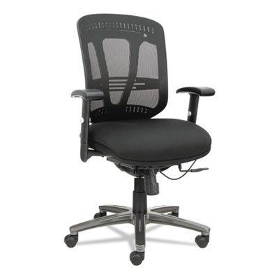 Alera ALEEN4217 Eon Series Multifunction Wire Mechanism, Mid-Back Mesh Chair, Black