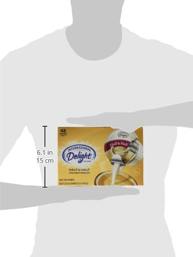 International Delight, Coffee House Inspirations Half and Half, 48 Count (Pack of 4), Single-Serve Coffee Creamers, Shelf Stable, Great for Home Use, Offices, Parties or Group Events by International Delight (Image #7)