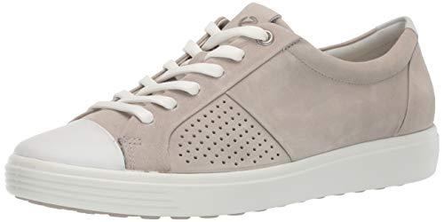 ECCO Women's Women's Soft 7 Sneaker, Concrete Cap Toe, 39 M EU (8-8.5 US) ()