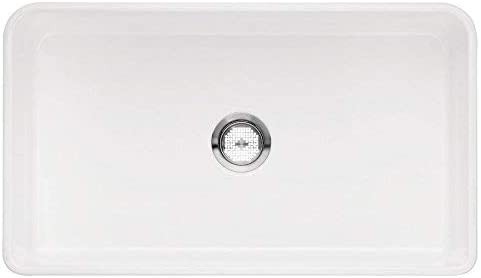Blanco 524259 Cerana II 33 Apron Single Bowl White Sink, L for 36 Cabinet