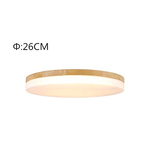 Lamp 26 Three - XQY Simple Ultra-Thin Ceiling Lamp 5Cm, Wood Led Living Room Ceiling Lamp, Modern Bedroom Study Lamp,Three Color,26Cm