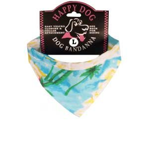 Hawaiian Blue Dog Bandanas for Small Dogs by Zanheadgear Hawaiian Bandana