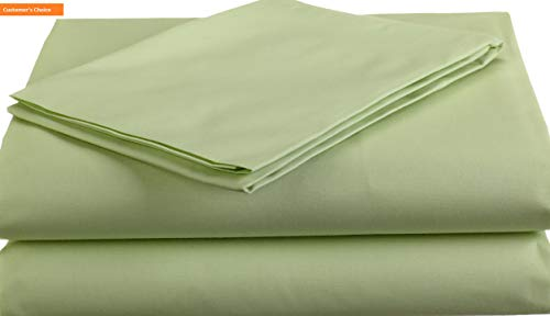 Mikash New Soft 100% Natural Cotton Percale Toddler Bedding Sheet Set, Celery, 3 Piece, Soft Breathable, for Boys and Girls | Style 84599611