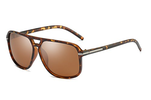 Sunglasses Brown Lens Tortoise Frame - Heptagram Goggle Hot Retro Aviator Polarized Classic Driving Men Sunglasses (Tortoise Frame/Brown Lens)