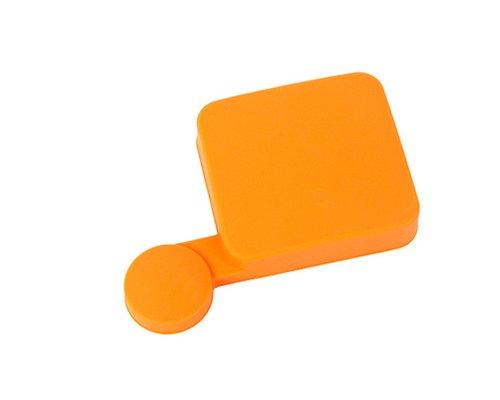 Bundle Set Protective Silicone Covers Lens Caps for GoPro Hero 3+, Hero 3 Plus, Hero 4 Camera and Housing - Orange