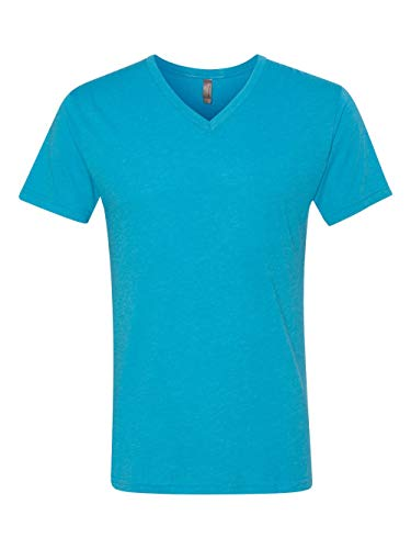 (Next Level Men's Triblend Vee Tee - Vintage Turquoise 6040)
