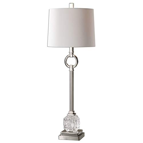 Lamp Table Nickel David (Uttermost 29199-1 Bordolano Polished Nickel Buffet Lamp)