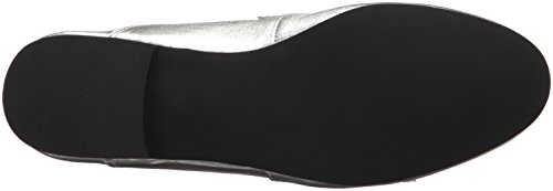 Steve Madden Beck, Mocassins (Loafer) Femme Silver Leather