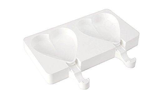 Silikomart Silicone Easy Ice Cream Bar Mold, Set of 2, Hearts