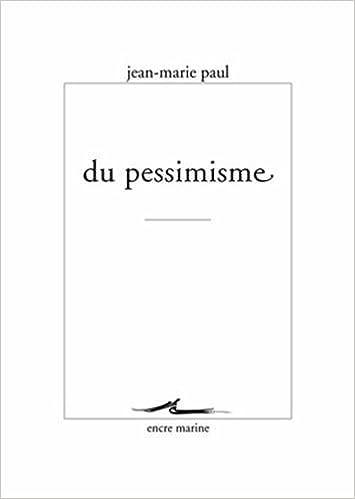 Du pessimisme