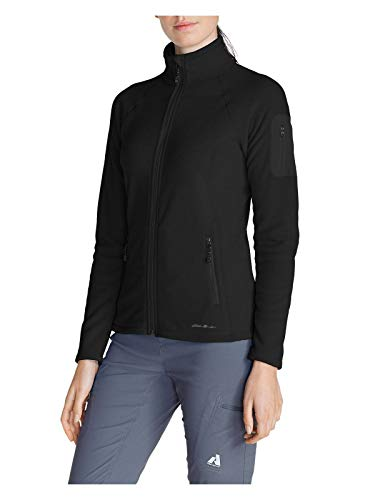 Eddie Bauer Women's Cloud Layer Pro Fleece Full-Zip Jacket, Black Regular L