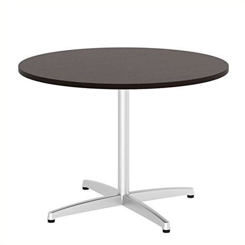 Bush Business Furniture 42'' Round Conference Table with Metal Base, Mocha Cherry by Bush Business Furniture