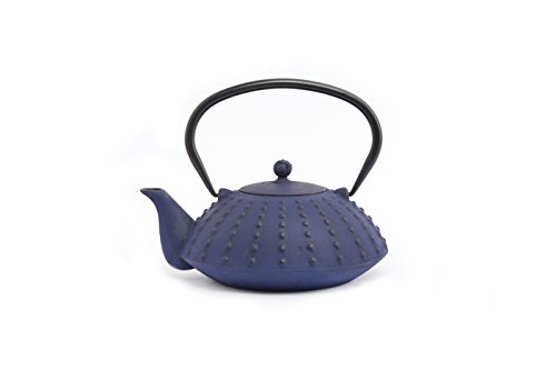 cast iron blue teapot - 6