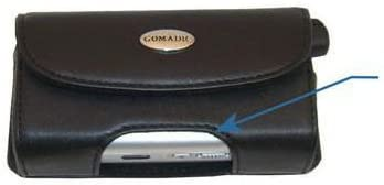 Gomadic Brand Horizontal Black Leather Carrying Case for The Kyocera Finecam SL300R with Integrated Belt Loop and Optional Belt Clip