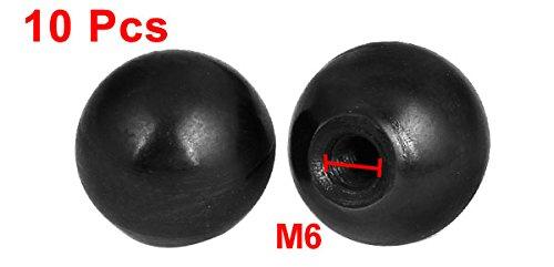 uxcell a15081800ux0243 M6 Female Thread Lathe Machine Plastic Ball Knob Handle Black Pack of 10