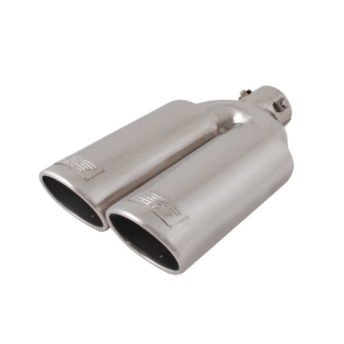 DC Sport EX-2012 Stainless Steel Oval Slant Cut Bolt-on Exhaust (Oval Exhaust Tips)