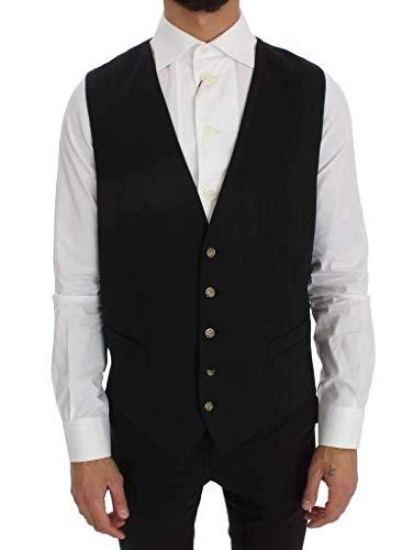 (Dolce & Gabbana Black Wool Blend Formal)