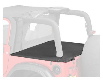 Bestop 90012-35 Black Diamond Duster Deck Cover for 2003-2006 Wrangler with Factory Soft Top bows folded (Diamond Duster)
