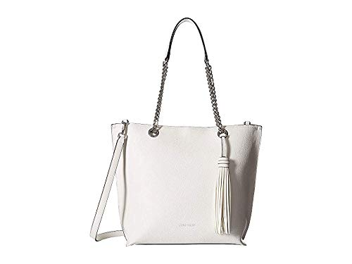 Calvin Klein Women's Unlined Novelty Top Zip Tote White One Size