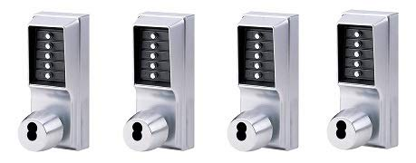Kaba Simplex 1000 Series Combination Entry Cylindrical Mechanical Pushbutton Lock Pack 4-