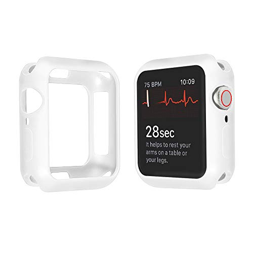 (Apple Watch Case PC Structure Design Protector All-Around Protective Case Ultra-Thin Magnetic Cover for Apple Watch Series 4,44mm,40mm :vl (White, 40mm) )