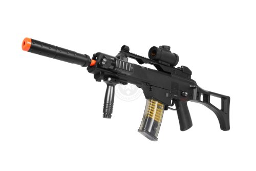 DE R36C TacSpec Electric AEG Rifle w/ Flashlight and Red Dot Scope -