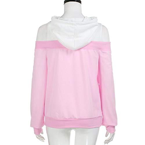 Casual De Blusa Larga Con Sudadera Vjgoal Hombro Costura Moda Sólido x7wtnCqP