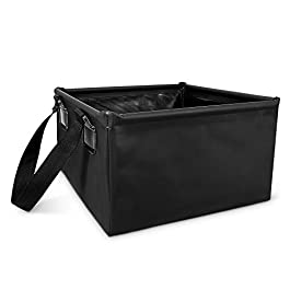 Navaris Collapsible Camping Sink – 4 Gallon Foldable Water Basin Bucket for Washing Dishes, Laundry, Camp Kitchen 11.8…
