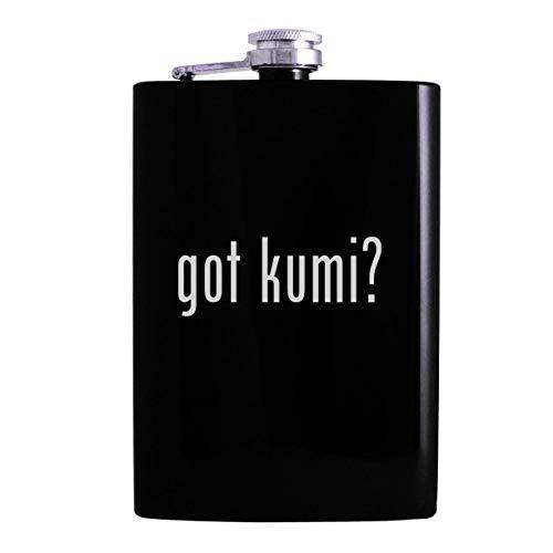 got kumi? - 8oz Hip Alcohol Drinking Flask, Black (Beatbox Drink Wine)