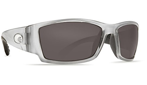 Costa Del Mar Corbina Sunglasses - Silver Frame - Gray COSTA 580P - Glasses Costa Frames