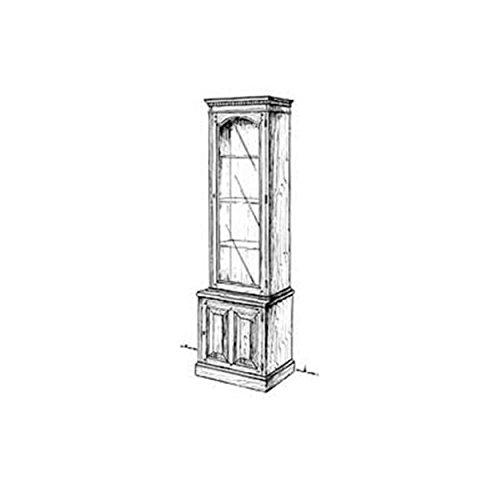 (Woodworking Project Paper Plan to Build Slim Curio Cabinet)
