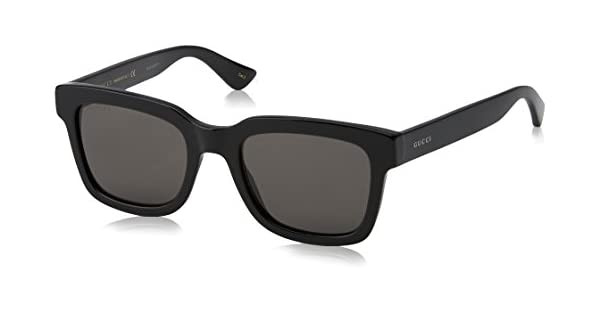 Amazon.com: Gucci Fashion GG0001S, 52/21/145 - Gafas de sol ...