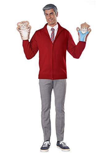 Adult Be My Neighbor Mr Rogers Costume Kit Red