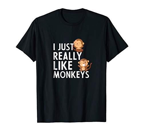 (Funny Monkey Lover Shirt For Monkey Lovers: I Like Monkeys)