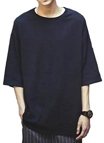 [シービリーヴ] ゆったり Tシャツ Uネック 無地 インナー カジュアル シャツ シンプル 良質素材 かっこいい 速乾 部屋着