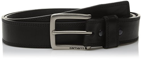 Carhartt Men's Double Row Stitching Snap Fasteners Dull Nickel Buckle, Black, 38