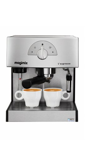 Magimix Expresso Máquina espresso 1.8L Cromo - Cafetera (Máquina espresso, 1,8 L, De café molido, 1260 W, Cromo): Amazon.es: Hogar