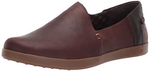 Chaco Women's Ionia Leather Slip On Shoe, Mahogany, 8 M US