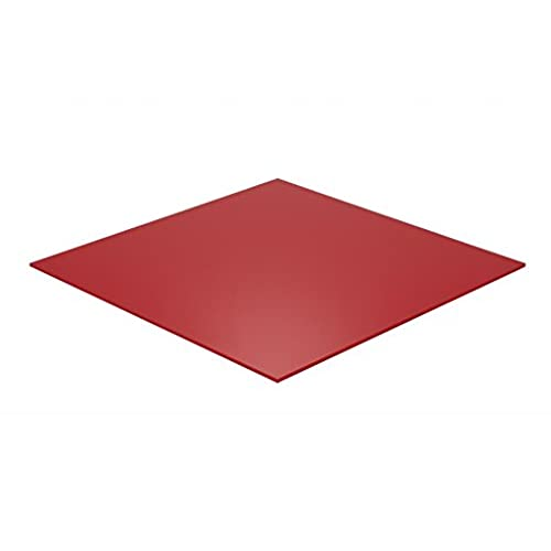 "Cheap Falken Design: 3"" x 3"" - 1/8"" ( 0.118"" ) Red Acrylic Sheet, Translucent 4% (2157) + DISPATCH THE SAME OR NEXT BUSINESS DAY! / Plexiglass Lucite supplier"